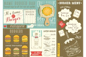 Template Menu for Burger House