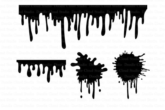 Paint Stains Svg Dripping Paint Svg