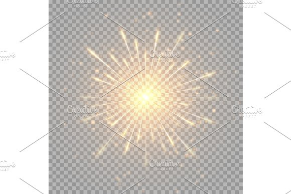 Golden Shiny Fireworks