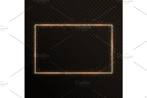Frame With Gold Particles