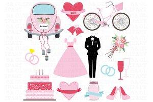 Wedding Doodle ClipArt