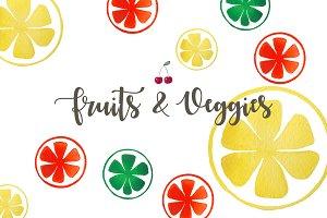 Fruits & Veggies Watercolor Pack