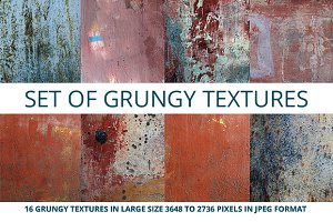 Set of grungy textures