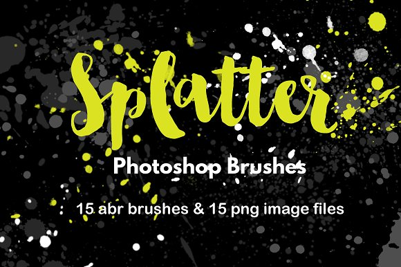 Watercolor Splatter Brushes Graffiti