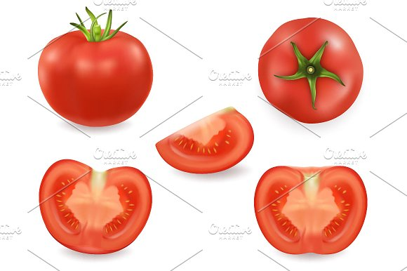 Tomato Vector Set