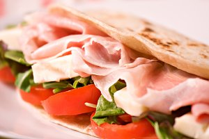 Traditional Italian piadina