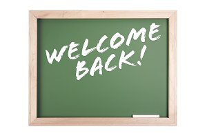 Welcome Back Chalkboard