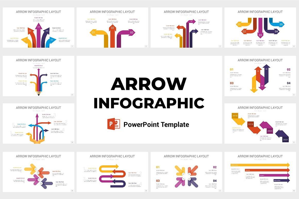 Arrow Infographic Powerpoint Presentation Templates Creative Market