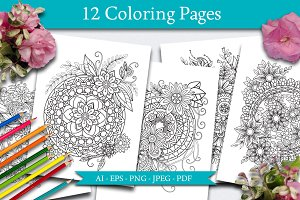 12 Coloring Pages