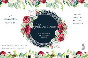 Abundance Flower Graphic Set
