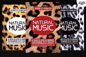 Natural Music PSD Flyer template