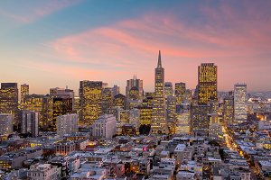 San Francisco at sunset