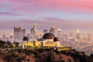 The Griffith Observatory and Los Ang