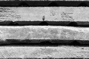 Stacked Cement Stab Black and White