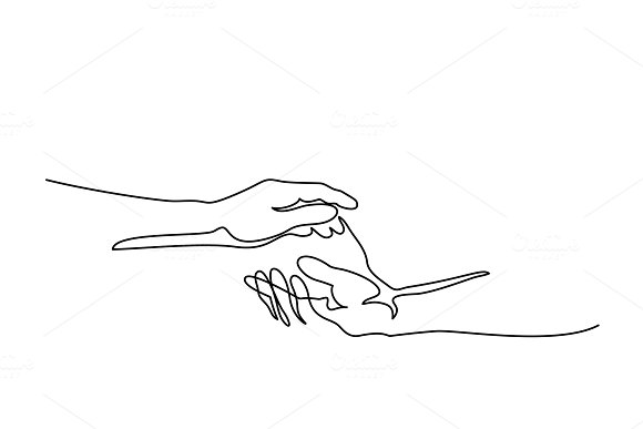 Holding Man And Woman Hands Together