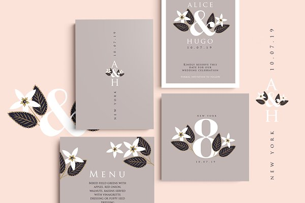 Invitation Templates: Werlang Paper - Moscow Wedding Set