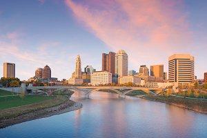 View of downtown Columbus Ohio