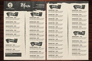 Rustic Food Menu Template
