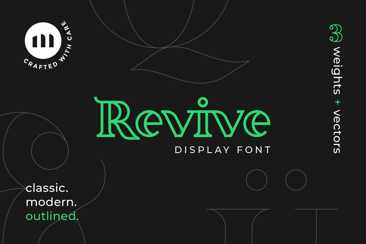 Revive Display Font in Display Fonts - product preview 8