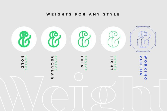Revive Display Font in Display Fonts - product preview 3