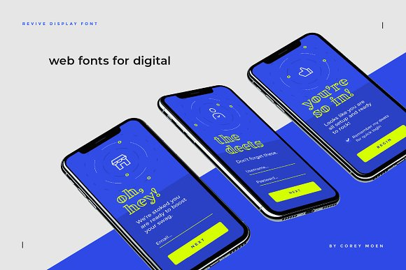Revive Display Font in Display Fonts - product preview 7