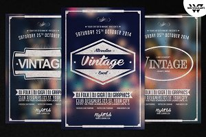 Vintage Retro Flyer Template Vol.1