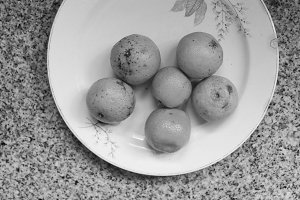 Some Mandarins in Black and White