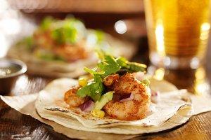 spicy fiesta shrimp tacos