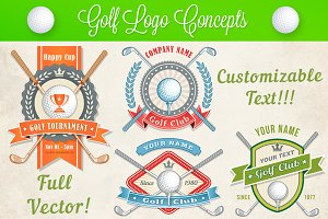 Vector Golf Logo and Banner Concepts