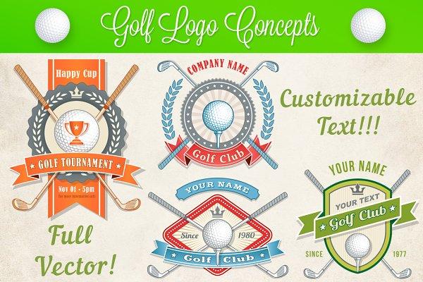 Vector Golf Logo and Banner Concept…