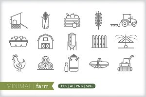 Minimal farm icons