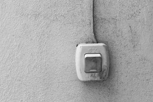 Vintage Switch Detail in Black White