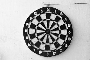 Dartboard Background Detail in Black