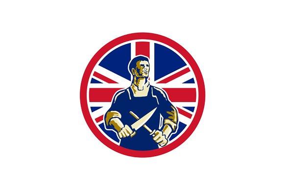 British Butcher Union Jack Flag Icon