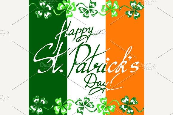 St Patrick's Day Clover Ireland Flag