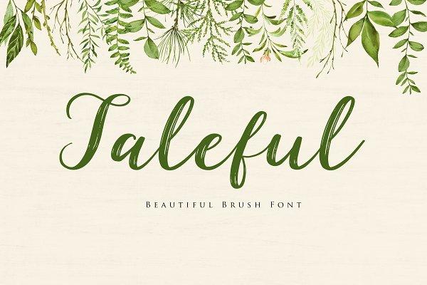 Taleful Script Font