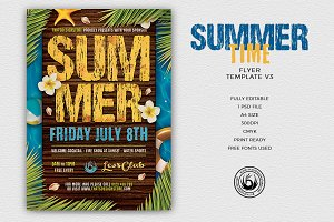 Summertime Flyer Template V3