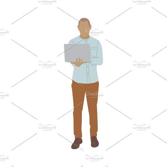 Illustration Of Man Using Laptop