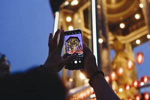 Taking a photo of Chinese festival