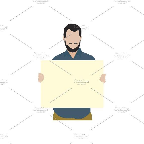 Illustration Of Man Holding Paper