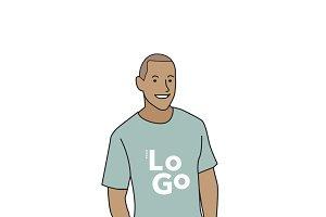 Illustration of mature man