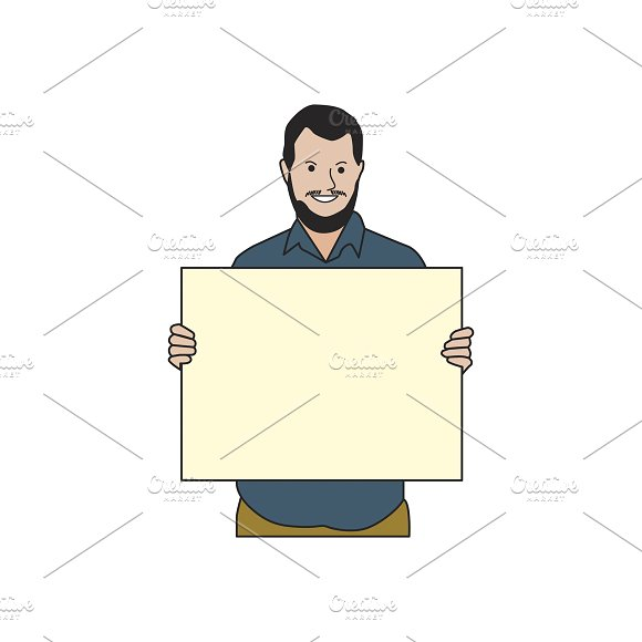 Illustration Of Man Holding Paper