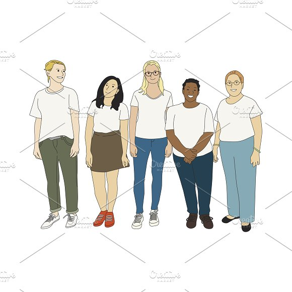 Illustration Of Casual People