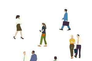 Illustration of people set