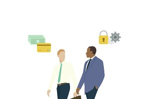 Illustration of business men