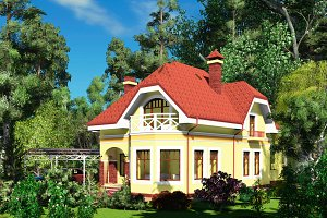 3D visualization of the house.