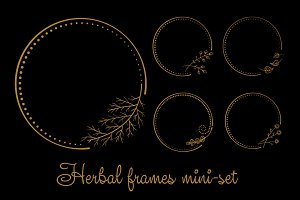 Herbal frames mini-set