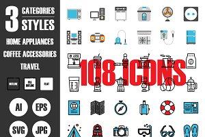 108 Icons×3 Styles Vol.2
