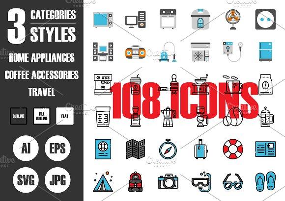 108 IconsЎБ3 Styles Vol.2