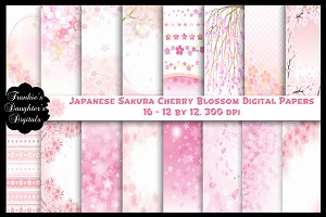 Japanese Sakura Cherry Blossoms